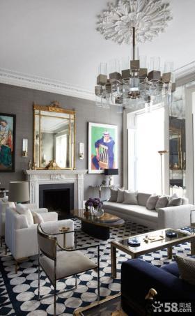 美式复式房屋内部装修设计效果图欣赏