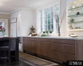 简约欧式风格家庭长橱柜效果图片