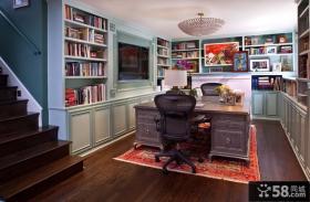 复式楼开放式书房装修效果图