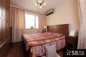 美式装修风格样板房卧室