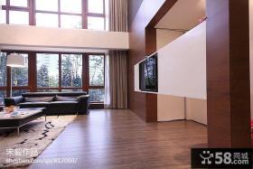 新中式大客厅电视机背景墙效果图
