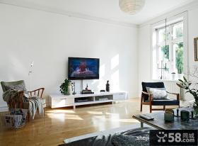 小户型客厅装修效果图大全2012图片 客厅挂壁电视机装饰图