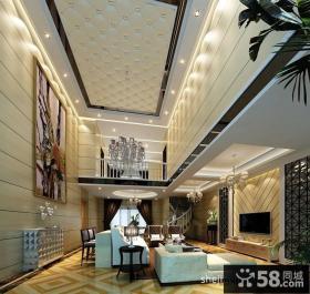 现代家装客厅吊顶装修效果图欣赏
