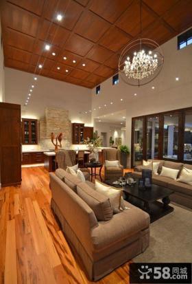 美式风格客厅led天花灯图片