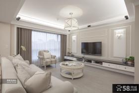 简欧式客厅电视背景墙效果图大全