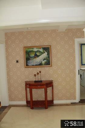 复古小玄关墙挂画图片