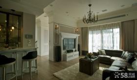 美式休闲别墅室内家居效果图片