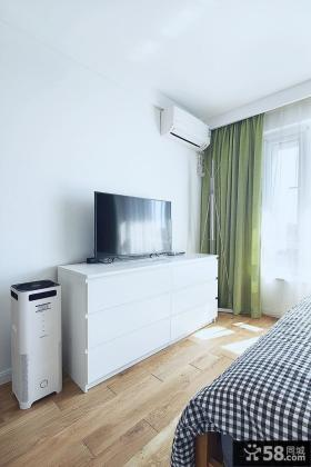 简约风格卧室白色电视柜图片