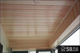 生活阳台桑拿板吊顶设计图片欣赏
