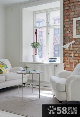 现代客厅飘窗装饰设计效果图