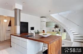 复式楼家庭厨房吊顶装修效果图大全2013图片