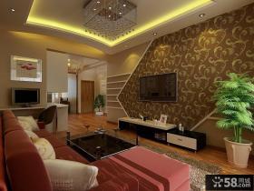 现代小户型客厅电视背景墙造型