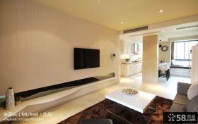 现代简约风格客厅电视墙装修设计效果图