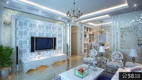 欧式风格客厅电视背景墙装修