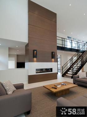 现代复式客厅装修效果图欣赏