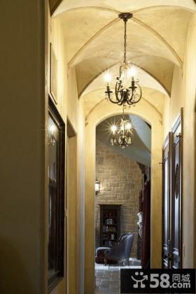别墅走廊吊顶装修效果图
