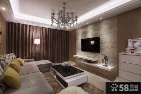 现代家居客厅吊顶设计