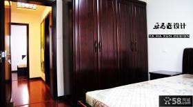 简约中式主卧室衣柜装修