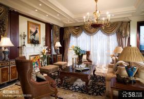 小别墅图片大全 美式客厅装修效果图
