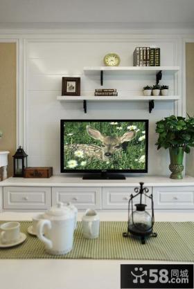 简约风装修客厅电视背景墙图片