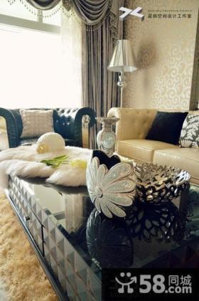 新古典客厅沙发茶几效果图