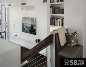 复式绿色宁谧客厅装修效果图大全2014图片