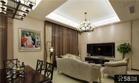 简欧现代复式室内家居装饰效果图