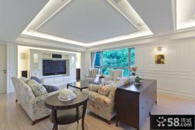 简欧风格别墅室内家装设计效果图