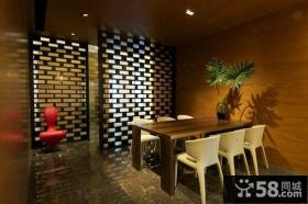 两室一厅美式风格餐厅装修效果图大全2012图片