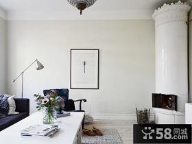 简约客厅装饰画效果图