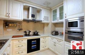 简欧风格整体厨房橱柜效果图