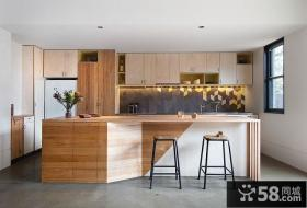 现代简约设计复式家装吧台效果图