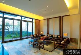 时尚复古现代中式客厅装潢