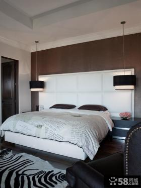 现代主卧室软包背景墙效果图