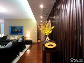 四居客厅玄关装修效果图大全2013图片