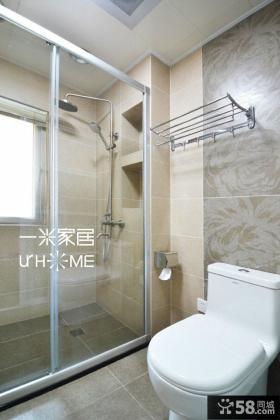 简约风格干湿分离卫生间效果图