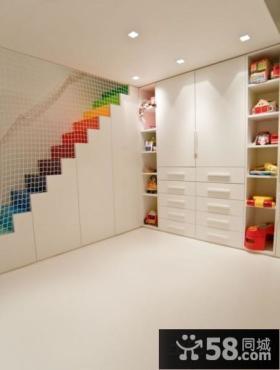 玄关鞋柜马赛克瓷砖装饰效果图