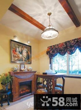 美式乡村客厅吊顶效果图 - 业之峰装饰