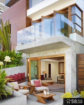 欧式露天阳台设计效果图