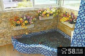 简单阳台鱼池装修效果图