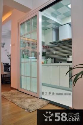 唯美、時尚的田园风格厨房隔断装修效果图大全2014图片