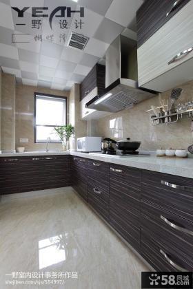 现代中式风格厨房橱柜设计图片