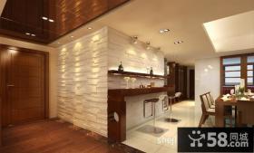 东南亚风格餐厅吧台装修设计效果图