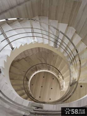 简欧风格别墅玄关楼梯装修图片