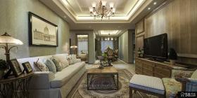 美式风格家居客厅设计图片欣赏