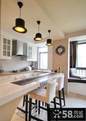 小户型厨房餐厅一体装修设计图片