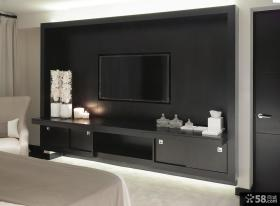 简约现代设计卧室电视背景墙效果图大全欣赏