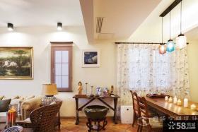 中式客厅餐厅一体效果图