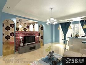 客厅背景墙壁纸装修效果图大全2013图片