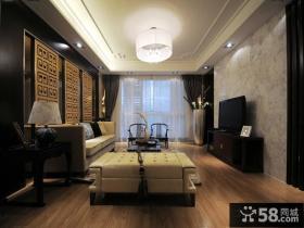 新中式客厅电视背景墙装修设计效果图